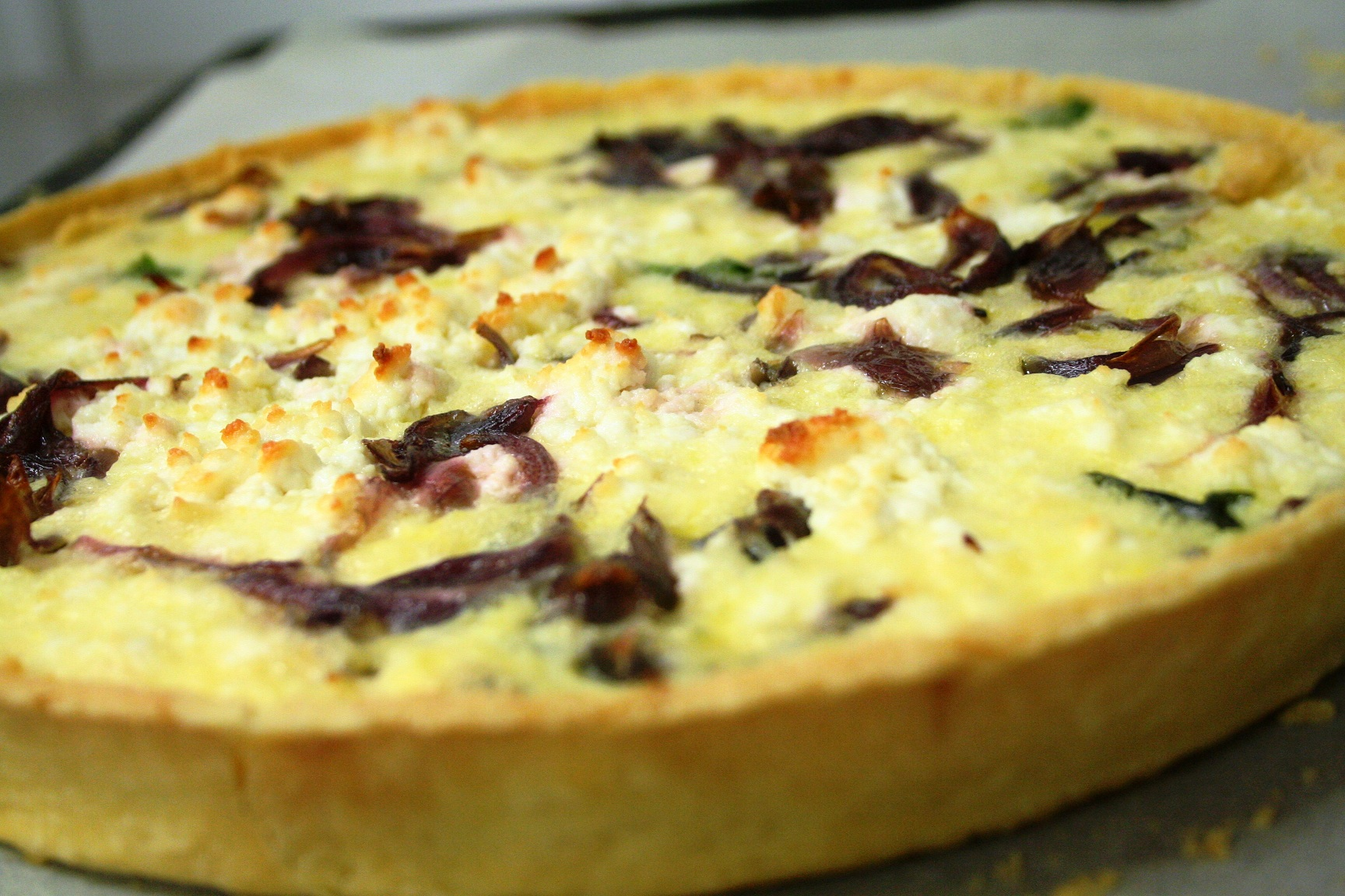 Warm Goats Cheese & Roast Red Onion Tart | Guy Awford