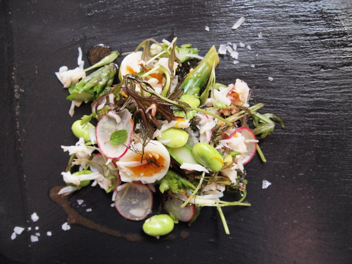 Cornish Crab, Asparagus, Quail Egg